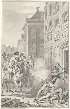 Twee oproerige soldaten te 's-Hertogenbosch door ruiters doodgeschoten, november 1787