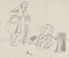 Twee schetsen van een man