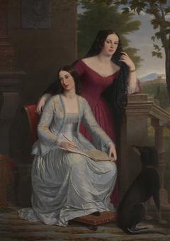 Two Women in an Italian Landscape