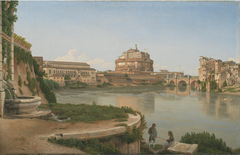 View of the Tiber from Trastevere outside of the Ospedale di S. Spirito