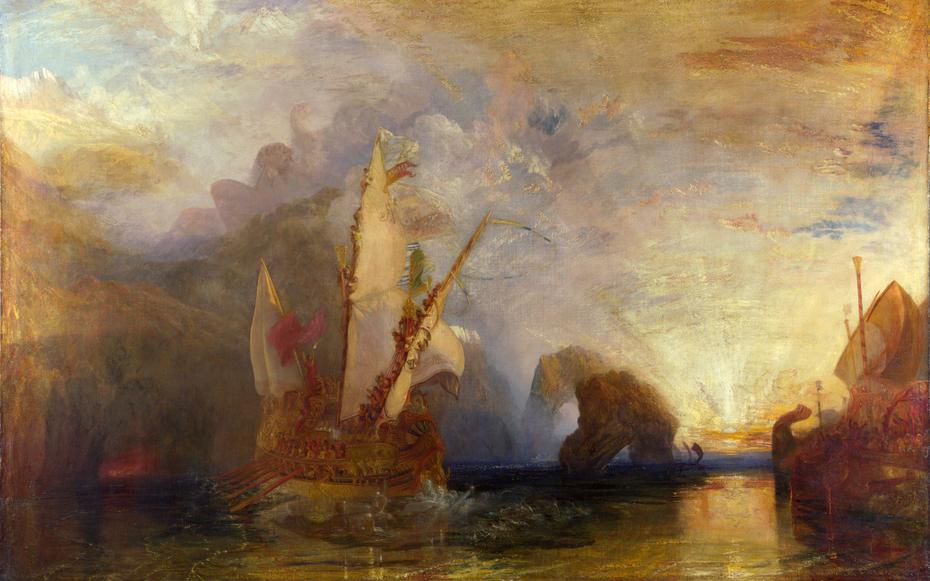 Ulysses deriding Polyphemus