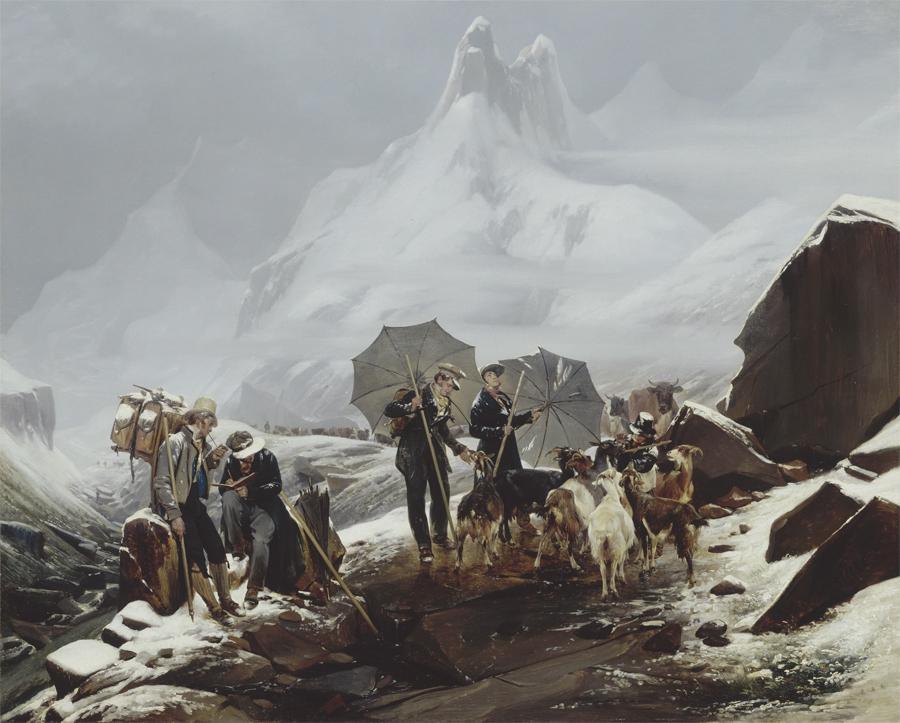Paysage de Susten en Suisse