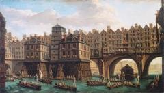 La Joute des mariniers entre le Pont-Notre-Dame et le Pont-au-Change