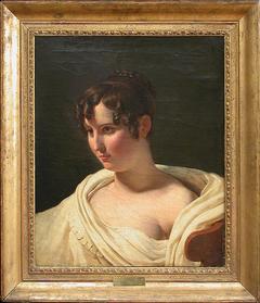 Jeune femme en buste