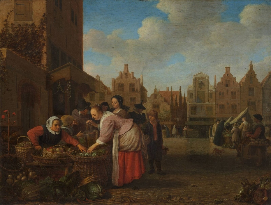View of the Great Market in Rotterdam