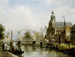 View of the Magere Brug, Amsterdam
