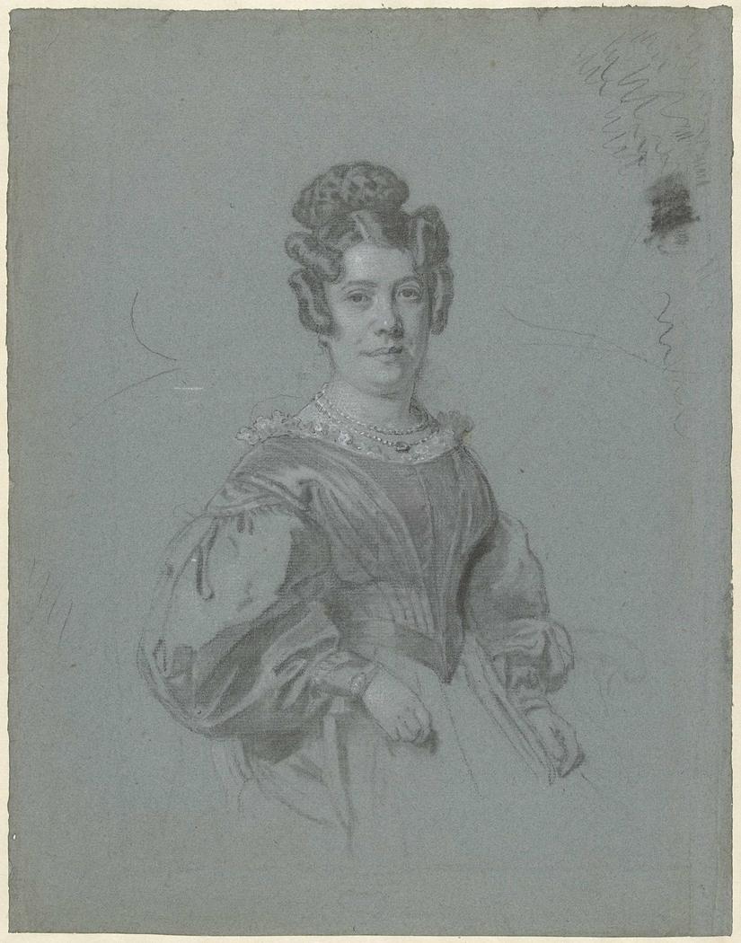 Voorstudie voor het portret van Aleida Maria Engelberts, echtgenote van prof. Hendrik Cock