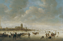 Winter Landscape with Figures on the Ice