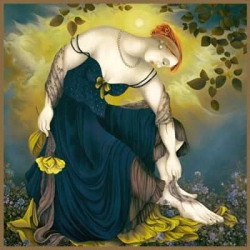 Woman With Yellow Rose
