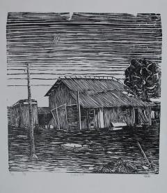 wood cut print