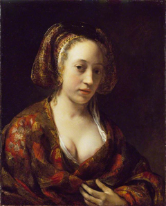Young Woman in a Brocade Gown