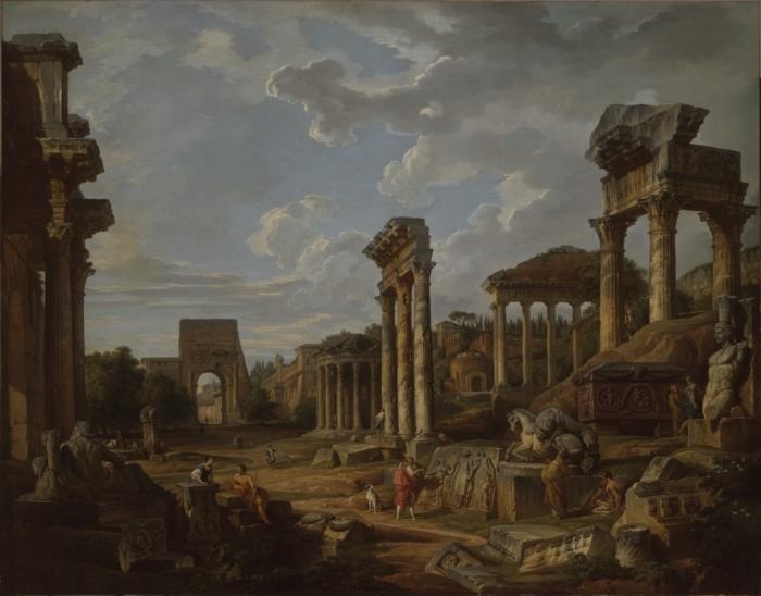 A Capriccio of the Roman Forum