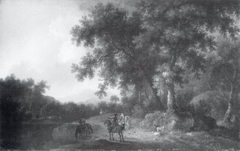 A Hunting Party at the Edge of a Forest