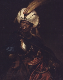 A Man Wearing a Turban and Armour