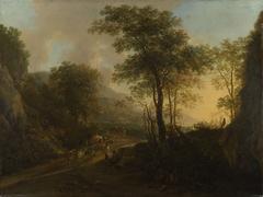 A Rocky Landscape with an Ox-cart