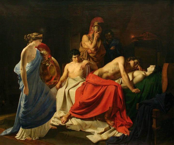 Achilles Lamenting the Death of Patroclus