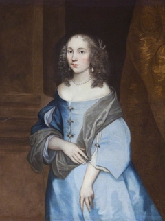 An Unknown Young Lady in a Blue Dress