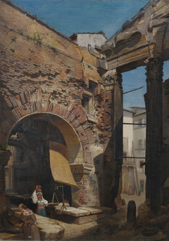 Arch in the Portico of Octavia in Rome