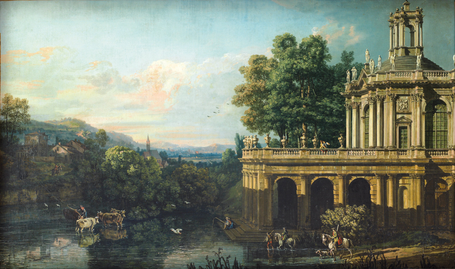 Architectural Caprice with a Palace