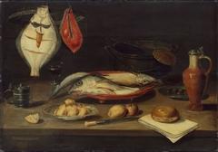Banquet still life with fish