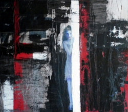 Black, Red and Silver, year 2011, cm. 80 x 100 by Anna Zygmunt