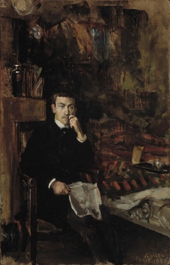 Bohême, Portrait of the Norwegian Artist C. A. Dørnberger