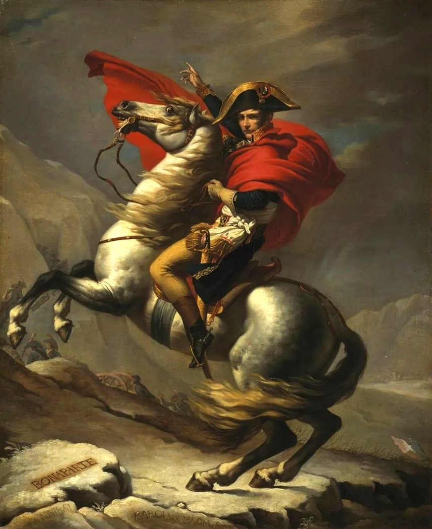 Bonaparte Crossing the Great St. Bernard