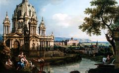 Capriccio with fantasy church