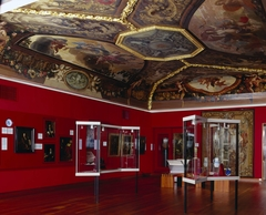 Ceiling with representations of Morning and Evening