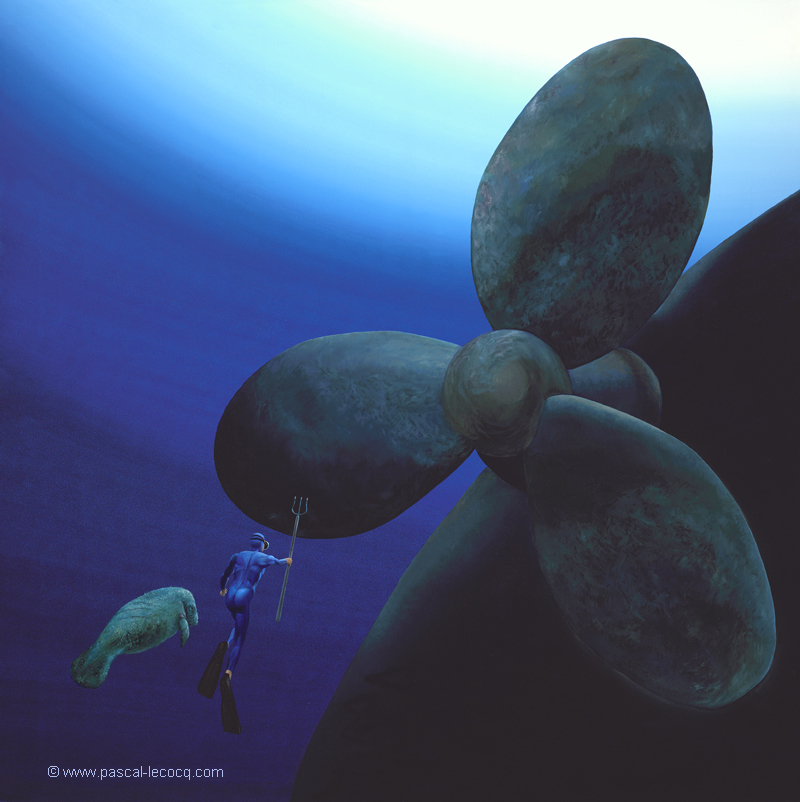 CERVANTES UNDERWATER EPISODE - Save the Manatees (Don Quijote and the Windmills)- by Pascal