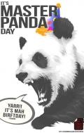 It's Master Panda Day