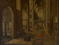 Church Interior, possibly Liège, St Lambert's Cathedral