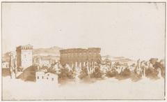 Colosseum te Rome en enkele gebouwen in de nabijheid