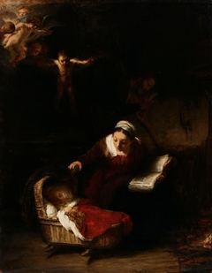 Copy of Rembrandt´s painting The Holy Family