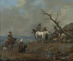 Country Road with Hunters and Peasants
