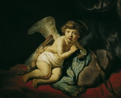 Cupid Blowing a Soap Bubble