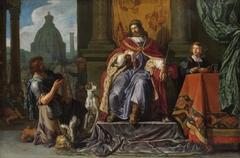 David geeft Uriah een brief bestemd voor Joab