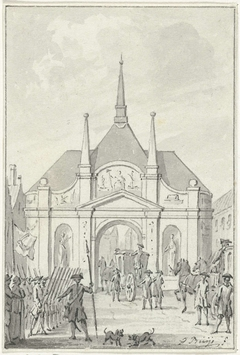 De tempel te Vlissingen, opgericht ter gelegenheid van het tweede eeuwfeest van de bevrijding, 6 april 1772