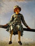 Dragonfly. Painter's daughter portrait