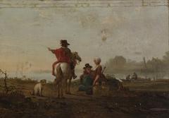 Dutch Landscape with Figures