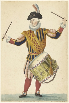 Een tamboer van de Cent Suisses