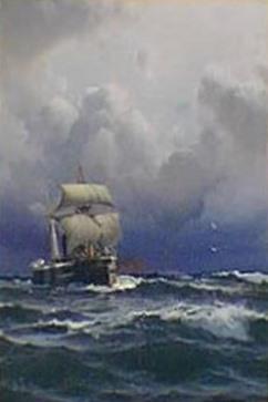 El Almirante Brown llegando a puerto
