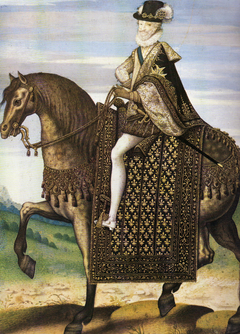 Equestrian portrait of Henri IV of France (1553-1610)