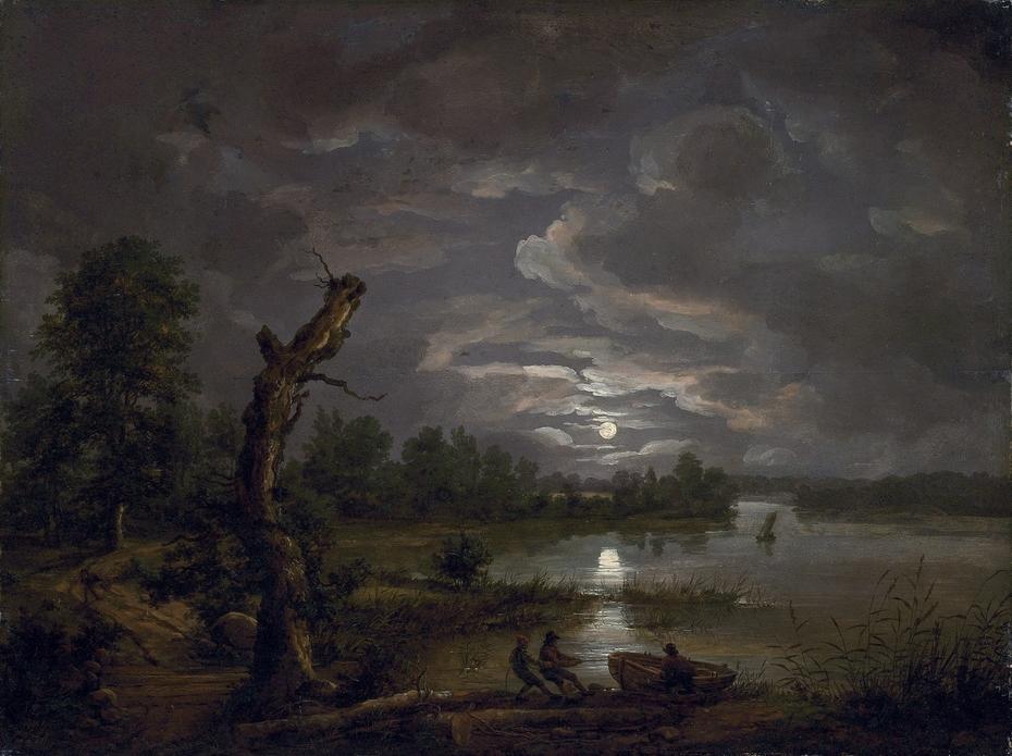 Esrom Lake in Moonlight