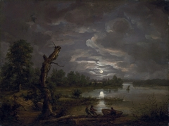 Esrom Lake in Moonlight