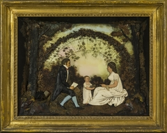 Father, Mother, and Child in a Park