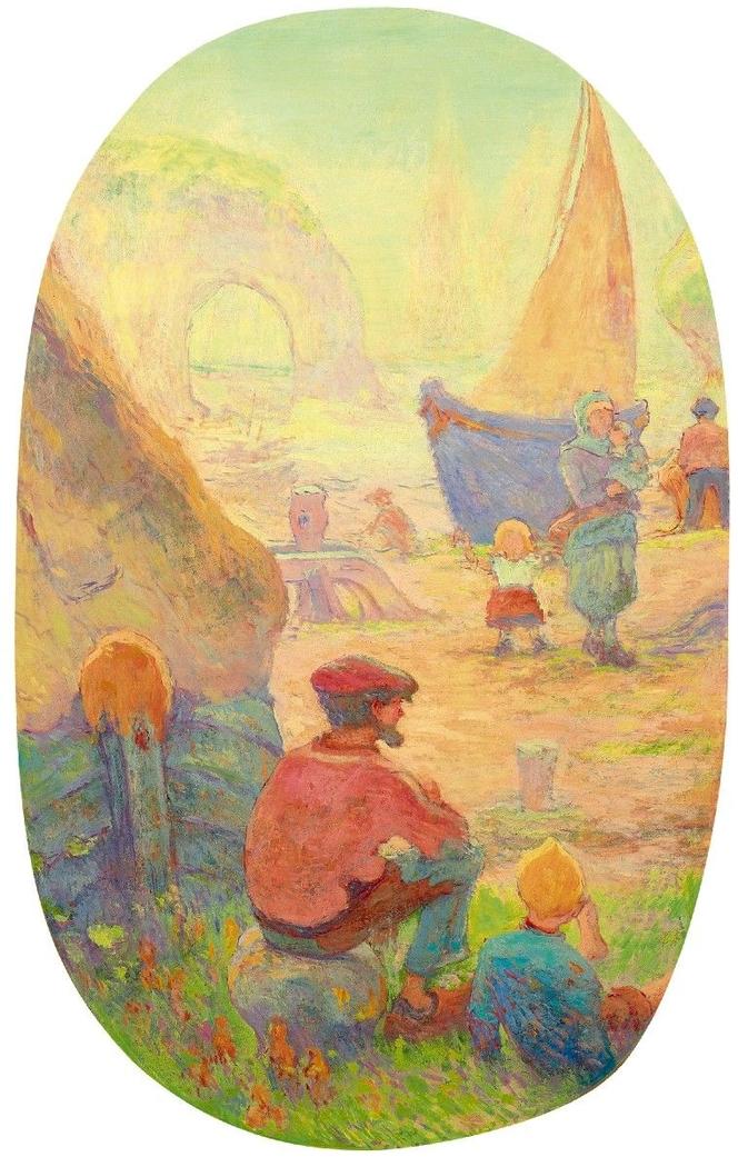 Fishermen in Étretat