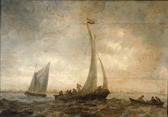 Fishing Boats in a Stiff Breeze