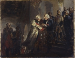 Frederick the Great and Emperor Joseph II meet in Neiße in the Year 1769 (Sketch)