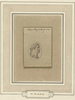 Gemme met het portret van keizer Galba in profiel